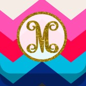 Monogram Wallpaper DIY Glitter Backgrounds Maker