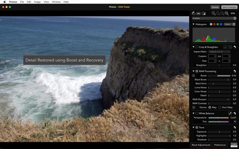 Screenshot do app RAW Power