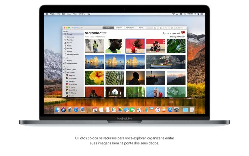 Screenshot do app macOS High Sierra