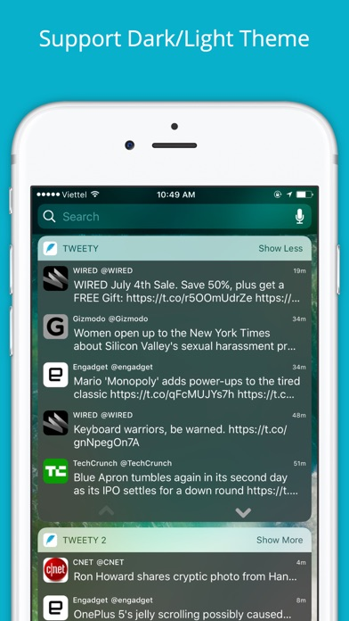 Tweety Pro - Show Twitter Timeline on Lock Screen Screenshot