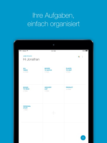 Any.do: Aufgabenliste, Kalender & Erinnerungen Screenshot