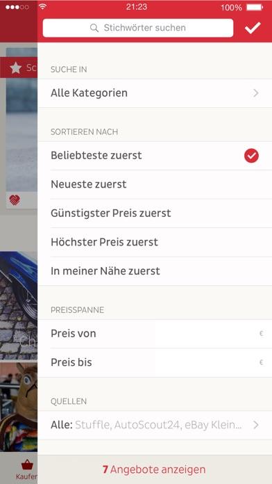 STUFFLE: deine Kleinanzeigen Suche Screenshot