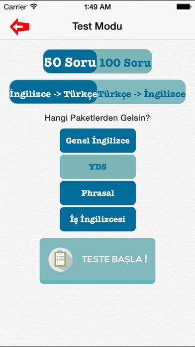 İngilizce Kelime Testleri 5000 Kelime - YDS -TOEFL -ingilizce kelime ezberleme Screenshot