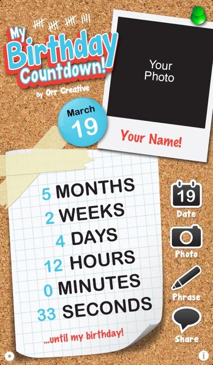 My Birthday Countdown By Orr Creative