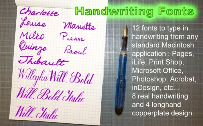 Handwriting Fonts Screenshot 01 131ea5n