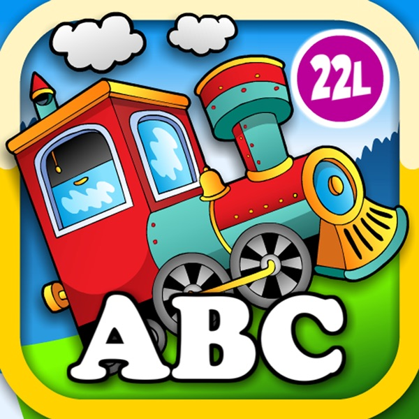 Animal Train Preschool Adventure First Word Learning Games for Toddler Loves Farm and Zoo Animals by Monkey Abby®