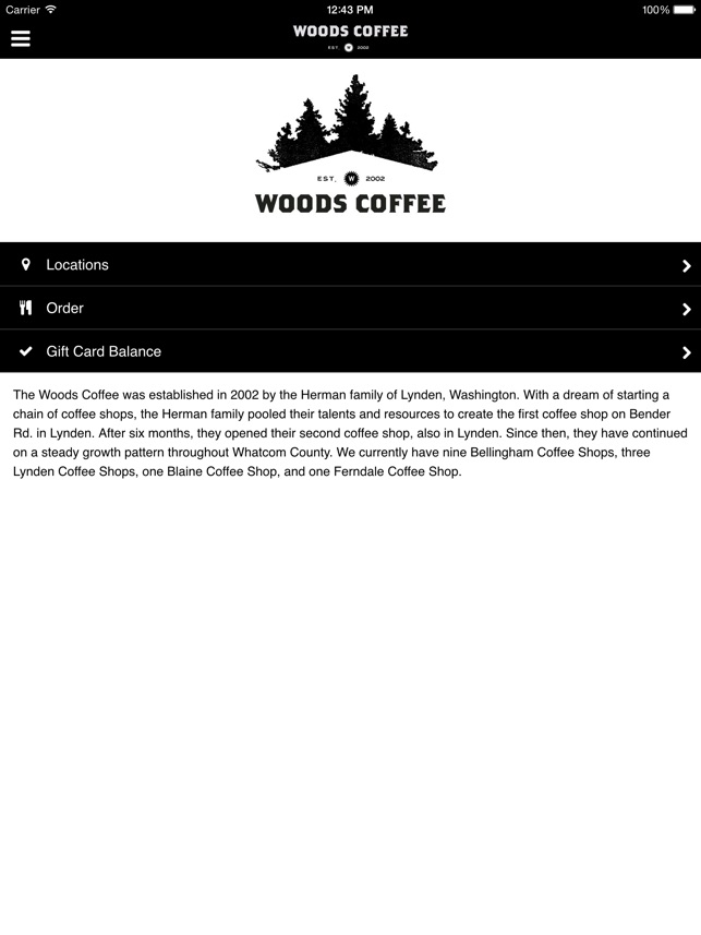 the woods coffee on the app store