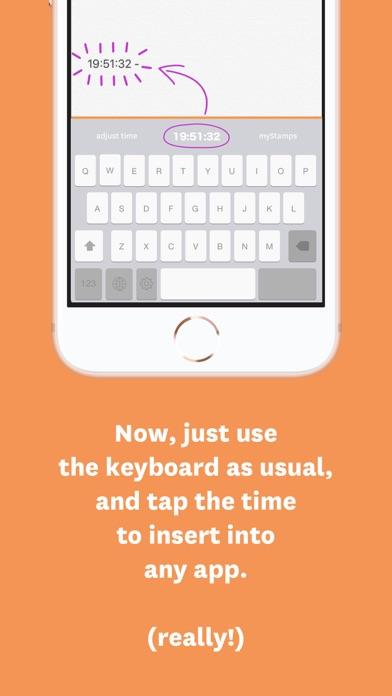 TimeStamp Keyboard - Time Log 4.4.5 IOS