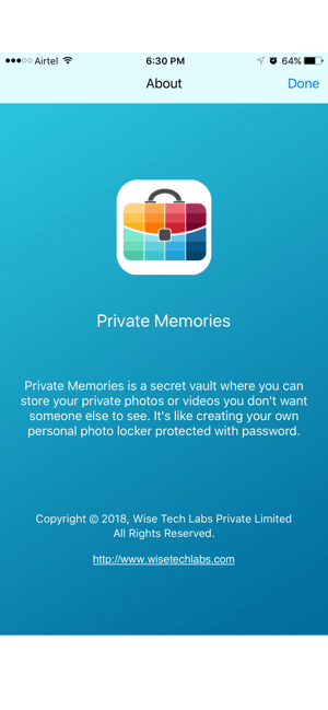 ‎Private Memories - Photo Vault Screenshot