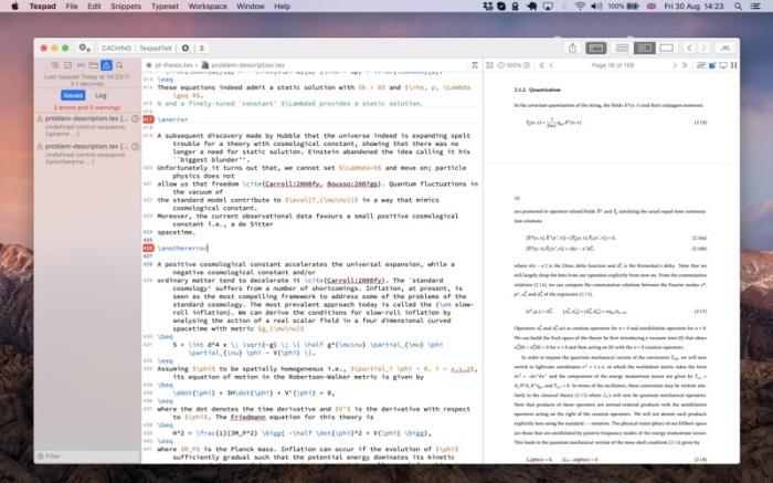 Texpad : LaTeX editor Screenshot 04 f5mxejn
