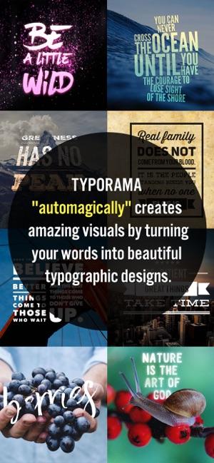 Typorama: Fotoğraf üstüne yazı Screenshot
