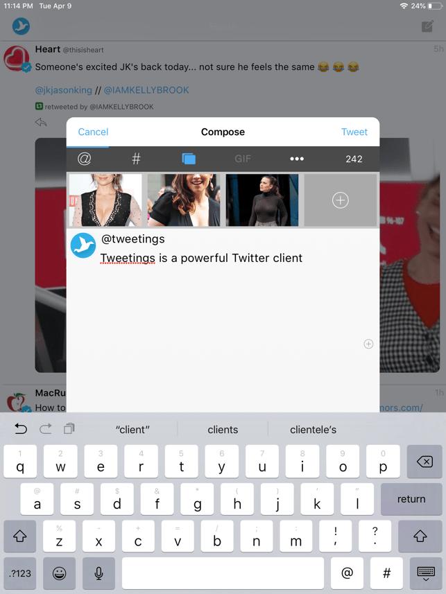 Tweetings Screenshot