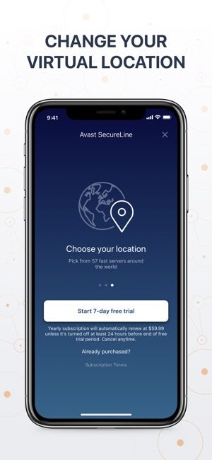 VPN SecureLine Proxy by Avast Screenshot