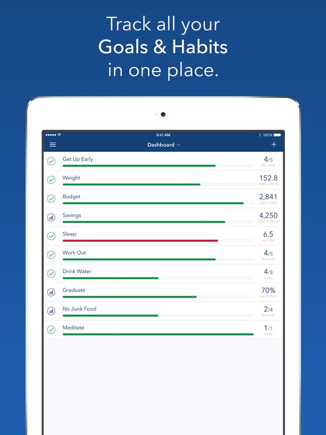 Strides: Goal & Habit Tracker Screenshot