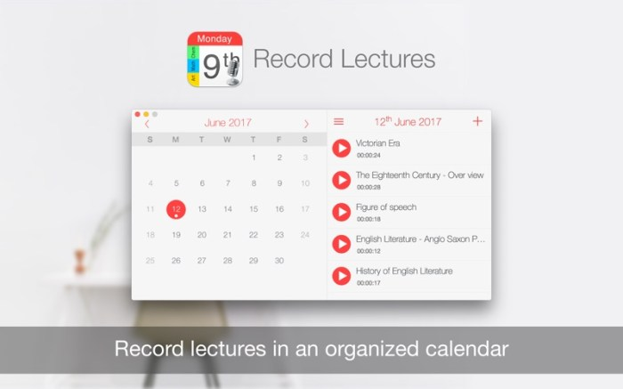 Record Lectures Screenshot 01 9nlrvun