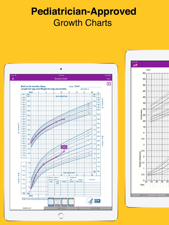 Baby Growth Chart Percentile + - AppRecs