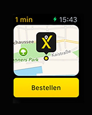 mytaxi - Die Taxi App Screenshot