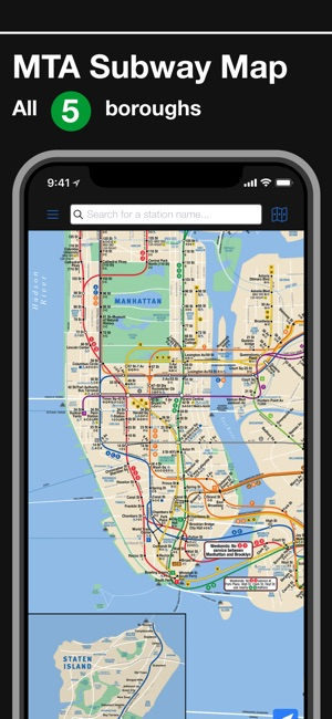 New York Subway MTA Map on the App Store Screenshots