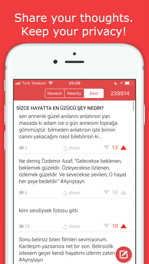 ‎Kampus: Anonymously Talk Screenshot