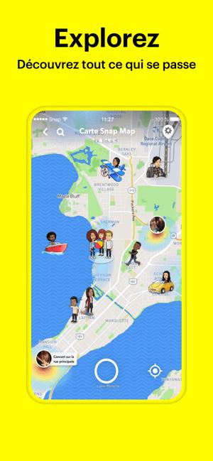 Snapchat Capture d'écran