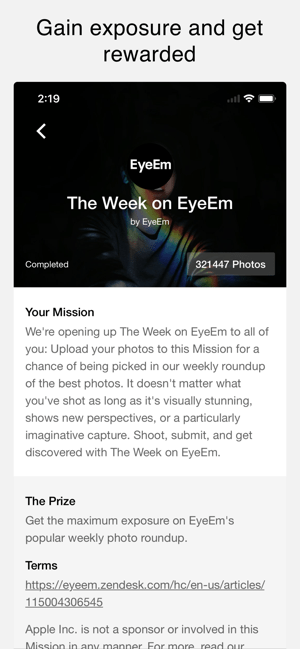 ‎EyeEm Screenshot