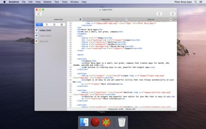 Smultron 12 - Text editor Screenshot 01 1f4qzmhn