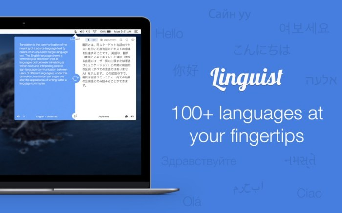 Linguist: Easy Translate App Screenshot 01 lg2i78n