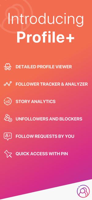 Profile+ Unfollowers Analysis Screenshot