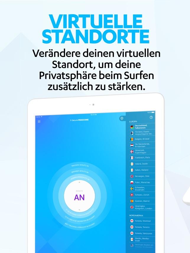 F-Secure Freedome VPN Screenshot