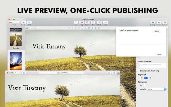 Sparkle, Visual Web Design Screenshot 06 ikzefpn