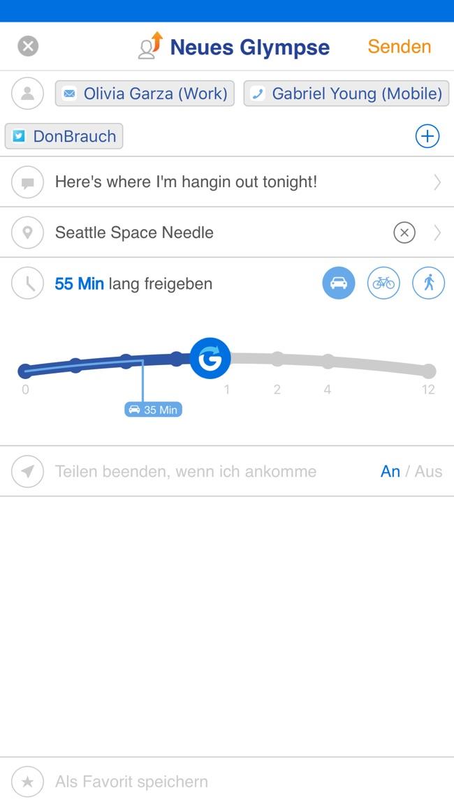 Glympse -Sie haben Ihren Stan Screenshot