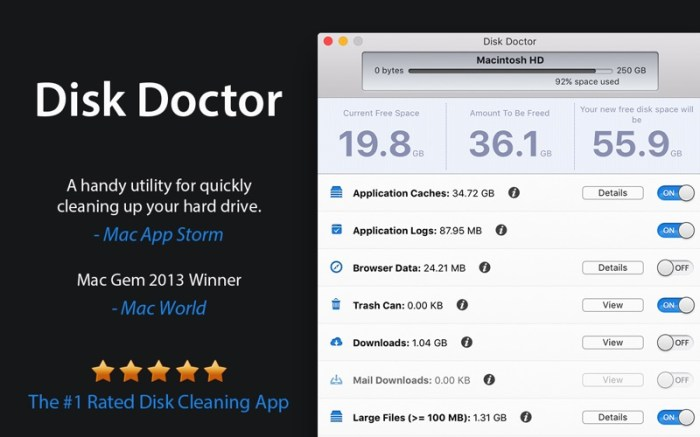 Disk Doctor: System Cleaner Screenshot 01 1lif6pbn