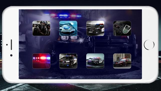 Polizei-Sirene Ton ~ Die beste Notfunk Auto klingt mit rot / blau Strobe (FREE) Screenshot