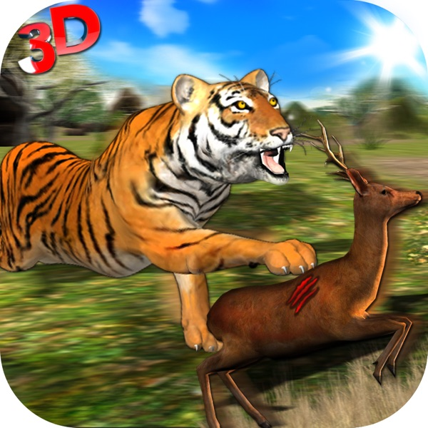 Wild Tiger Jungle Hunt 3D - Real Siberian Beast Attack on Deer in Safari Animal Simulator Game