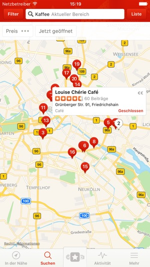 Yelp - Beiträge zu Restaurants Screenshot