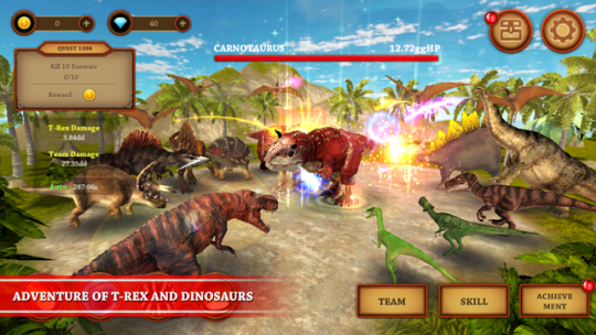 Dinosaur Fighting Game   T Rex Adventure Simulator on the App Store Screenshots