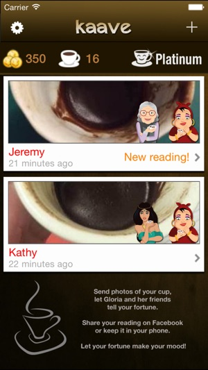 Kaave - Coffee Fortune Reading Screenshot