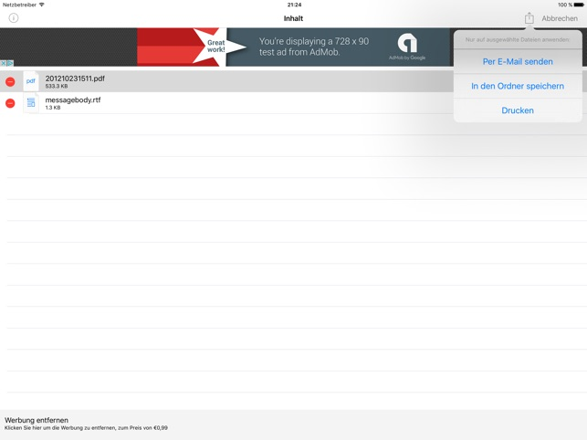 Winmaildat Öffner Screenshot