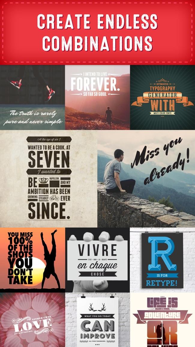 Retype - Typografiegestaltung für Fotos Screenshot