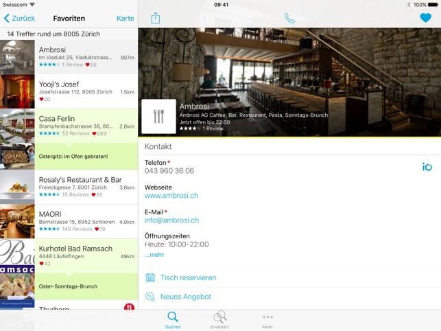 Schweizer Telefonbuch Screenshot