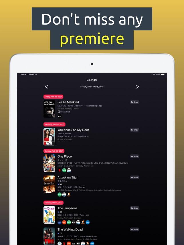 TV Sofa: Track Shows & Movies Screenshot