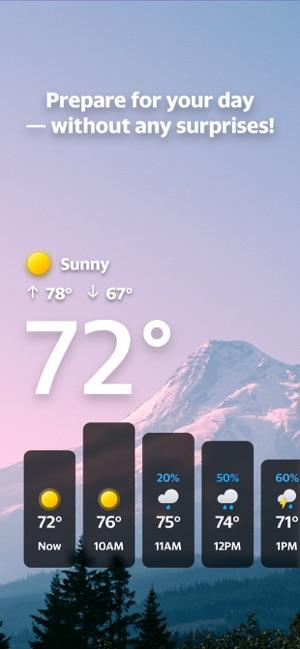 Yahoo Weather Screenshot