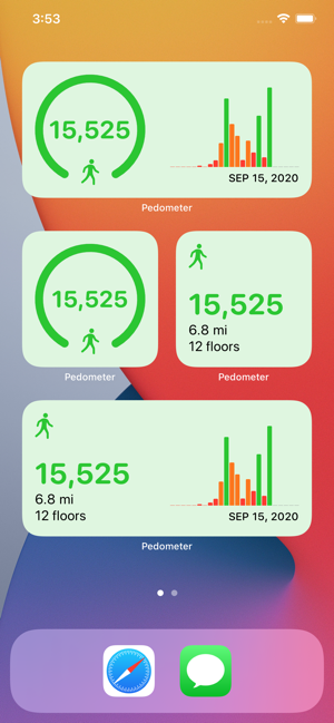 ‎Pedometer++ Screenshot