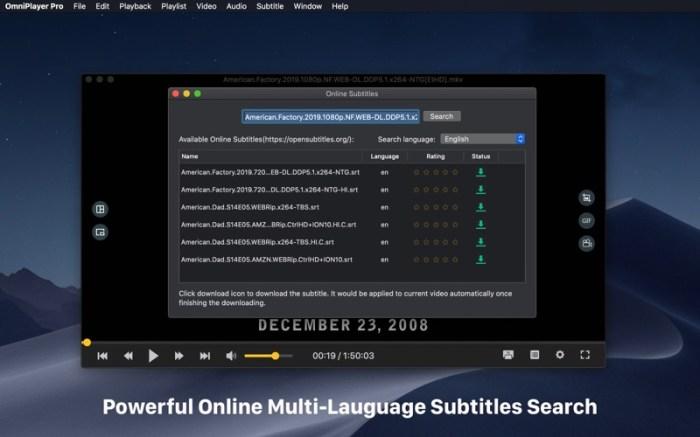 OmniPlayer Pro - Media Player Screenshot 04 136ypkn