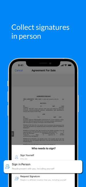 SignEasy - Sign and Fill Docs Screenshot