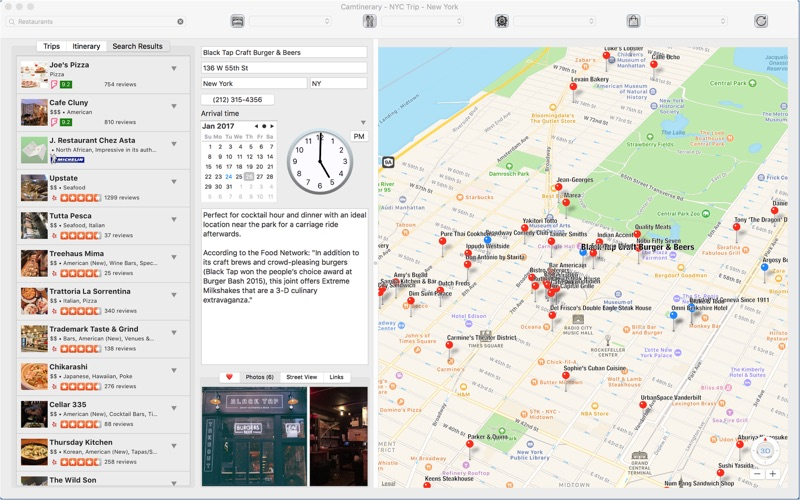 Screenshot do app Camtinerary
