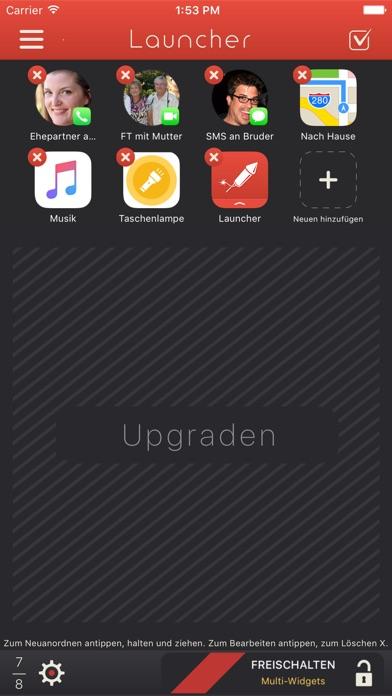 Launcher mit Widget Screenshot