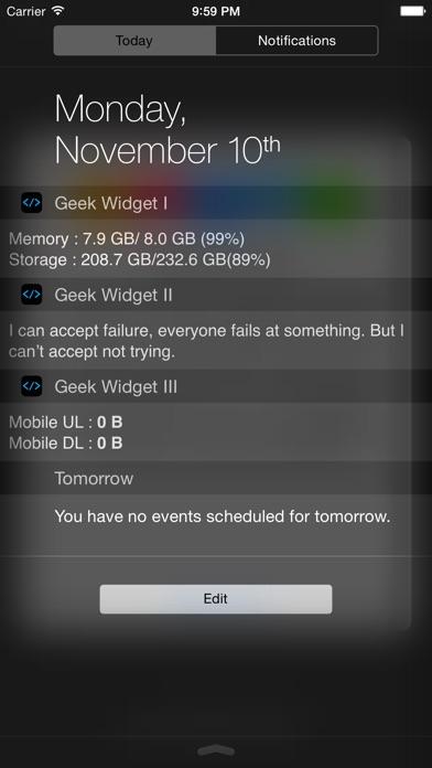 Geek Widget - Include Powerful Function Screenshot