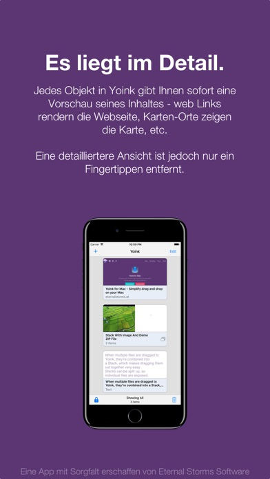 Yoink - Besseres Drag und Drop Screenshot