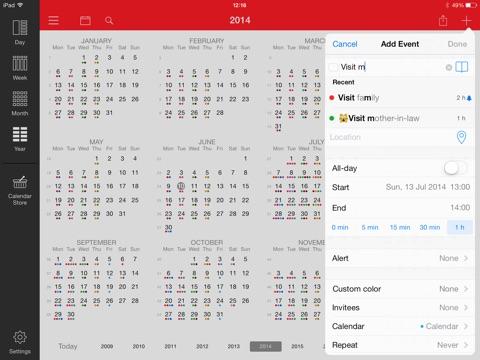 Week Calendar for iPad Screenshot